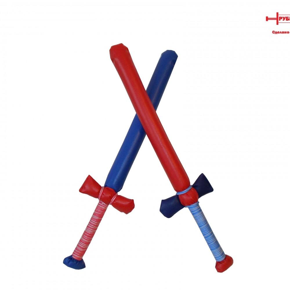 Состав набора: меч 65 см - 2 штуки Красный и Синий. Наружный слой меча выполнен из искусственной кожи, и во время игры пыль не выбивается. Основа изделия - лёгкая и прочная пластиковая трубка, которая обеспечивает необходимую упругость изделия.