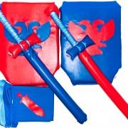 Рыцарский набор Красно-Синий